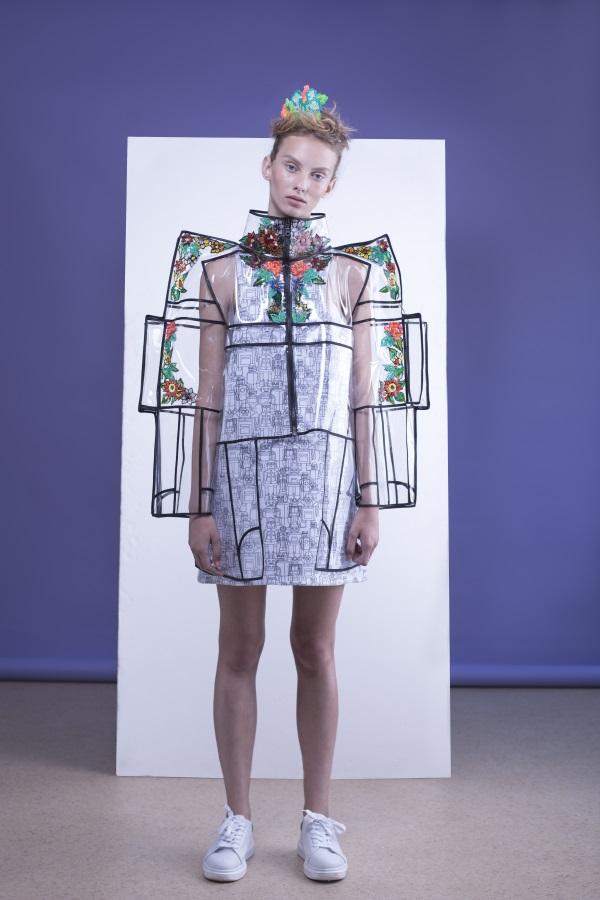 Futuristic like silhouettes by Fashion designer Shahar Abergil - Milkey Magazine