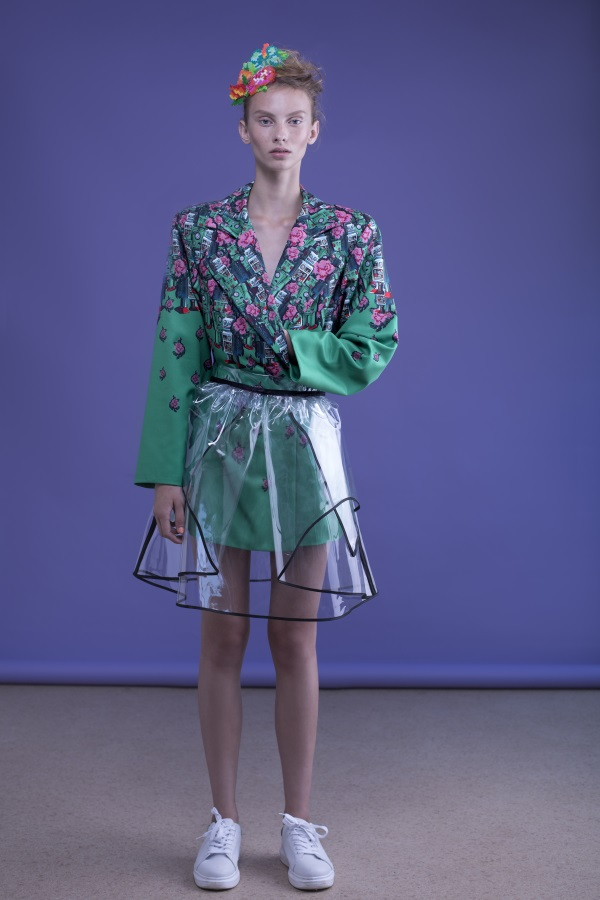 Vibrant green by Fashion designer Shahar Abergil - Milkey Magazine