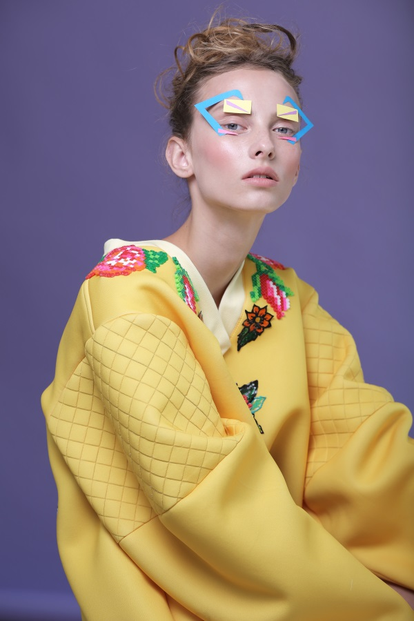 Flower appliqué by Fashion designer Shahar Abergil - Milkey Magazine