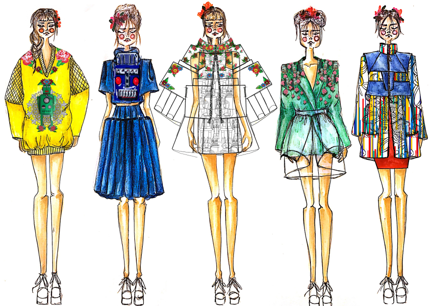 Sketch by fashion designer Shahar Abergil - Milkey Magazine