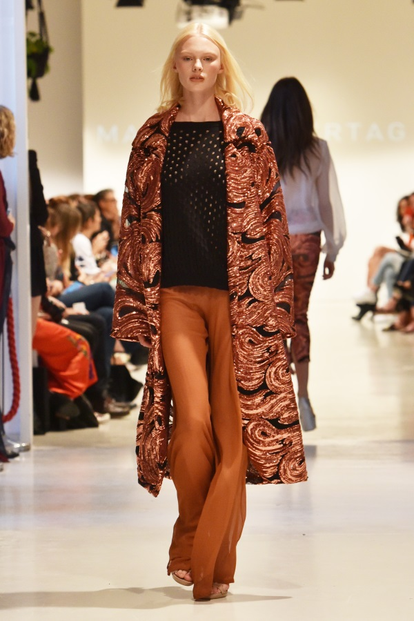 Marcel Ostertag SS18 'Freedom'. Mercedes-Benz Fashion Week Berlin. Photograph: Zacharie Scheurer/Getty Images