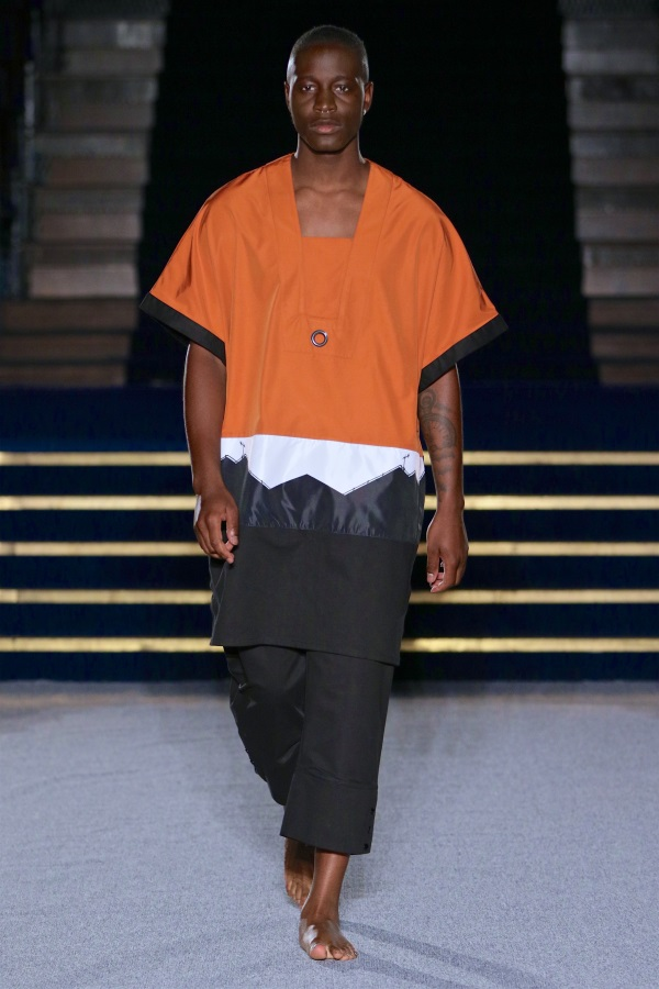 Africa Fashion Week. Designer: Ibrahim Musa. Photograph: Simon Deiner /SDR Photo