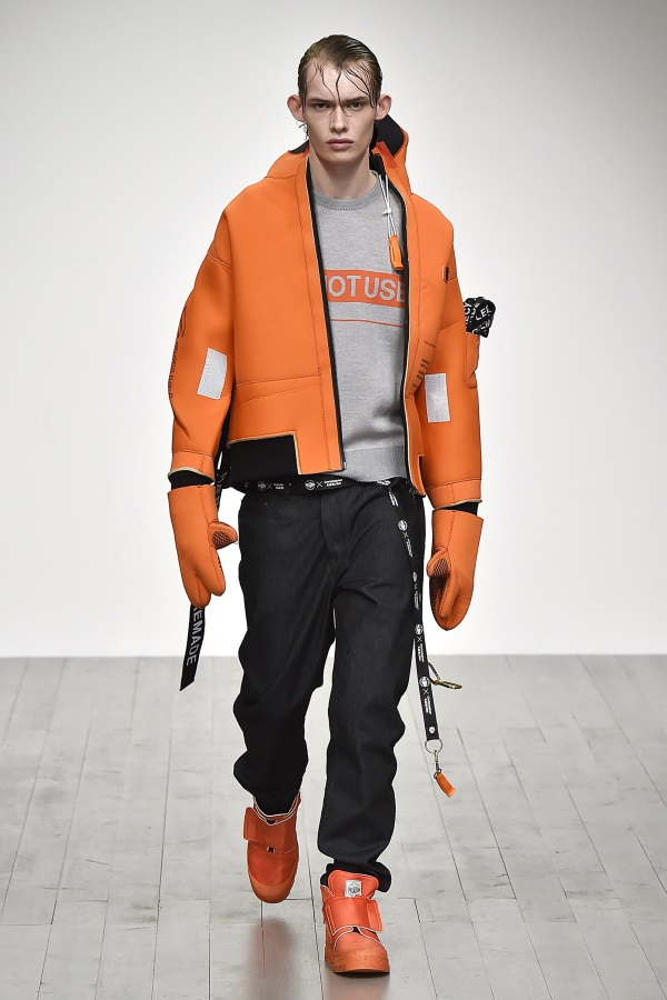 Christopher Raeburn Fall Winter 2018<br /> London Fashion Week Men's. Photograph: Catwalking.com