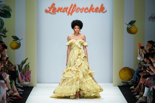 Lena Hoschek Spring/Summer 2019. Photograph: Stefan Knauer/Getty Images