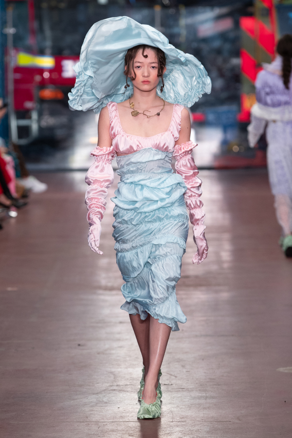 uhan Wang AW19. Fashion East. Photograph: Chris Yates