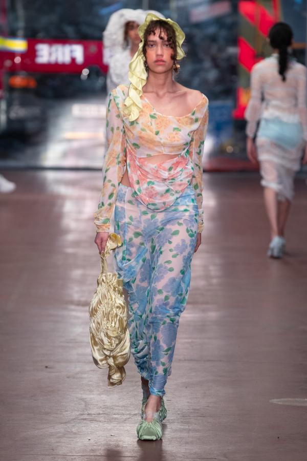 Yuhan Wang AW19. Fashion East. Photograph: Chris Yates