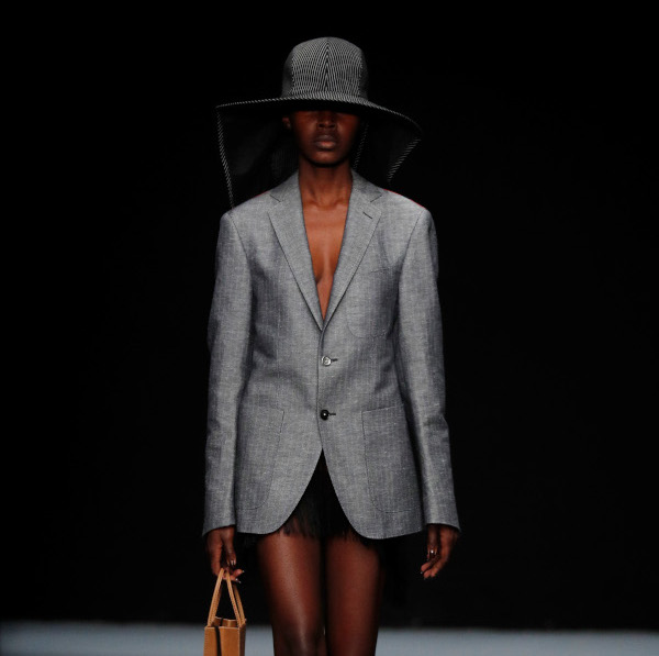 BERLIN, GERMANY - JULY 02: A model walks the runway at the Richert Beil show during the Berlin Fashion Week Spring/Summer 2020 at ewerk on July 02, 2019 in Berlin, Germany. (Photo by Sebastian Reuter/Getty Images for MBFW)