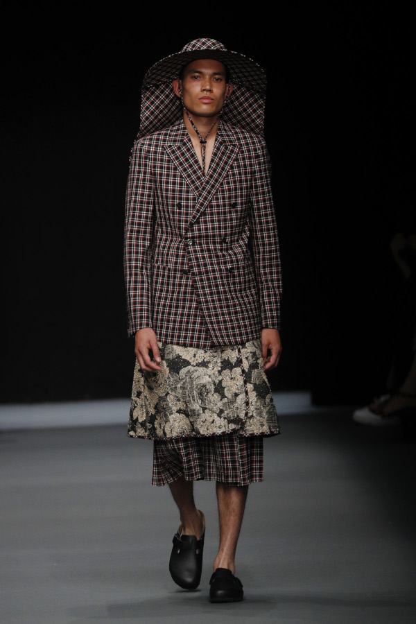 Richert Beil Spring/Summer 2020. Photograph: Sebastian Reuter/Getty Images for MBFW