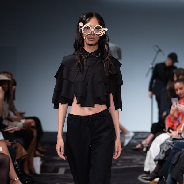 8 Northumberland Avenue, London UK. 16th September 2019. Richard Malone shows his Spring Summer 2020 designs at her catwalk show. © Chris Yates